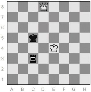 queen versus rook end game in chess