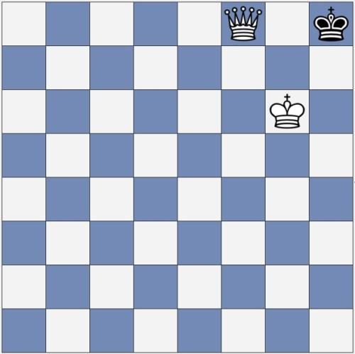 White checkmates the black king