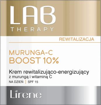 Lirene, Lab Therapy, rewitalizująco-energizujący krem na dzień z murungą i witaminą C, SPF 15, 50 ml, nr kat. 285191