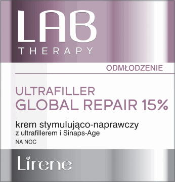Lirene, Lab Therapy, stymulująco-naprawczy krem na noc z ultrafillerem i Sinaps-Age, 50 ml, nr kat. 285202