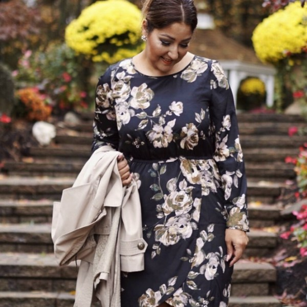 Tulip Hem Floral Dress & Trench + Giveaway