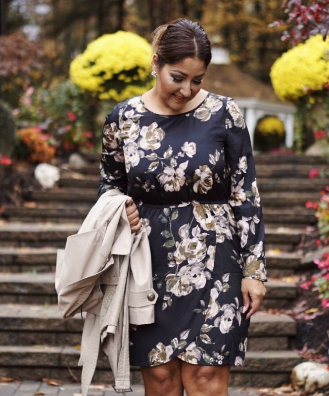 Tulip Hem Floral Dress & Trench + Giveaway