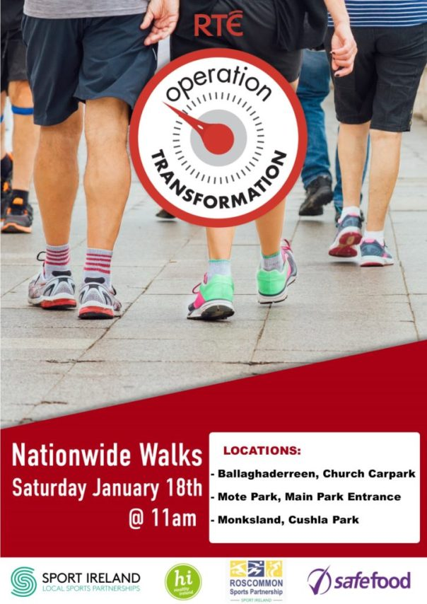 Operation Transformation Nationwide Walks Roscommon 18th January 2020