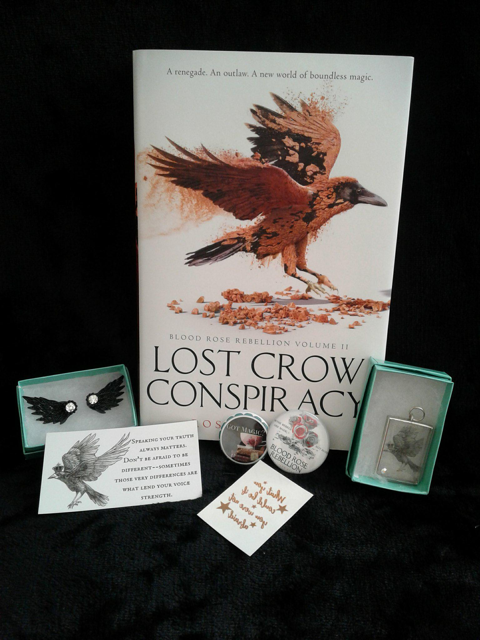 While Youre Here You Can Also Enter A Giveaway For My Brand New Release LOST CROW CONSPIRACY And Some Swag Crow Earrings Necklace