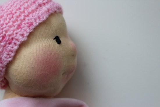 Filzkopf Waldorf doll cloth Puppe