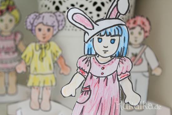 Paper Dolls, Waldorf, Papier Puppe, Anziehpuppe, Kukalka, Cutout