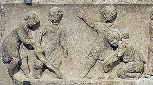 Children playing ball games. 2nd century AD relief in marble, probably Roman. (Source: Wikimedia Commons)