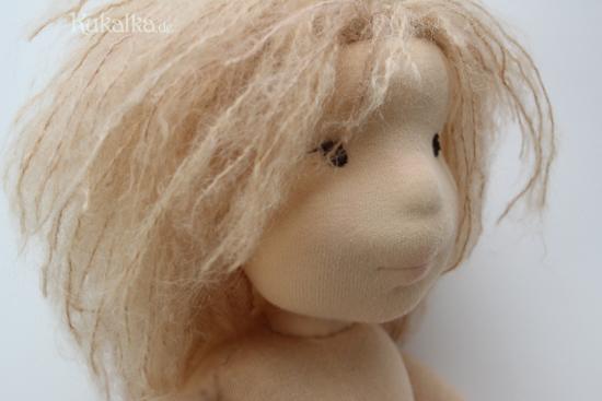 Filzkopf Waldorf Puppe sculpted head