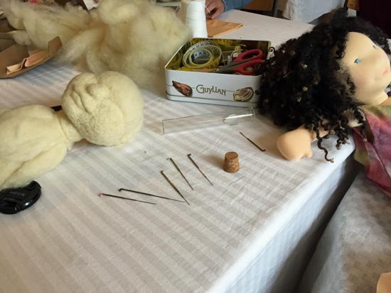 Puppenkopf filzen -a sculpted doll head class in berlin
