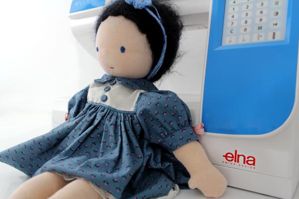 Elna eXperience 580 Puppe nähen Nähmaschine