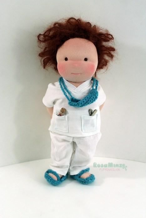 Zeichnung Puppe Arzt