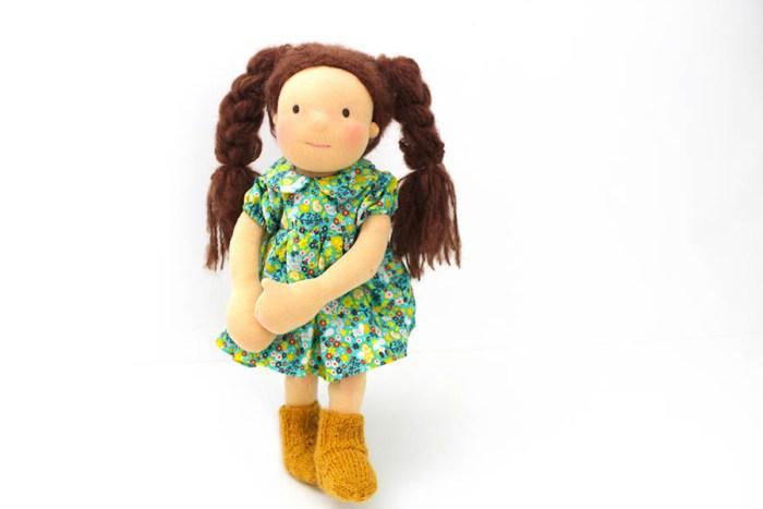 Rosa Minze Puppe Waldorf