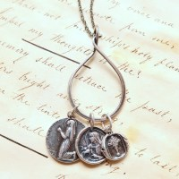 Sterling Silver Charm Holder for Multiple Medals - Rosa ...