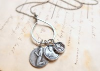 Sterling Silver Charm Holder and Oxidized Chain