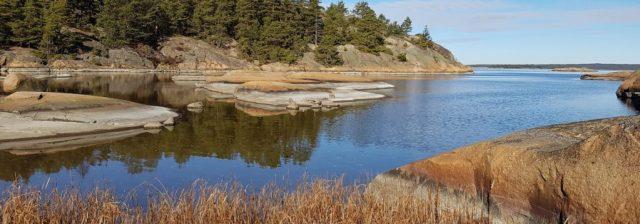 Skal du fiske sjøørret om vinteren er slike plasser som dette et godt valg.