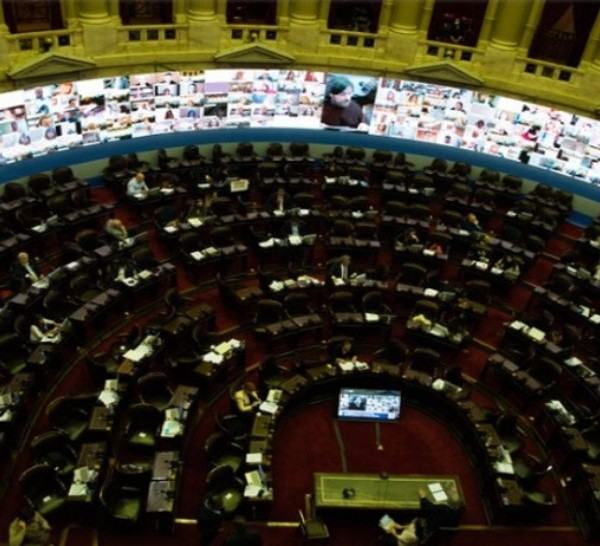 La sesión de la Cámara baja en la que se dio media sanción al proyecto de ley.