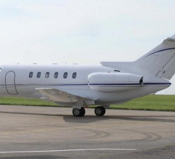La aeronave rematada por el Gobierno uruguayo es un jet Hawker 700.