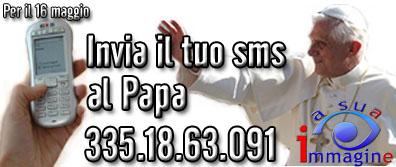 Il numero per i tuoi sms al Papa