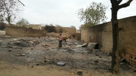Baga, Nigeria. Rasa al suolo da Boko Haram