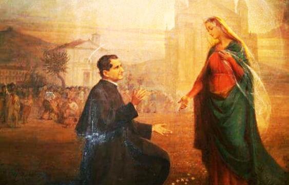 María Auxiliadora y Don Bosco