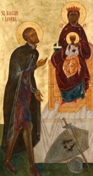 San Ignacio y la Virgen de Montserrat