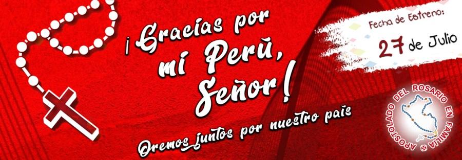 Banner web - Gracias por mi Perú Señor