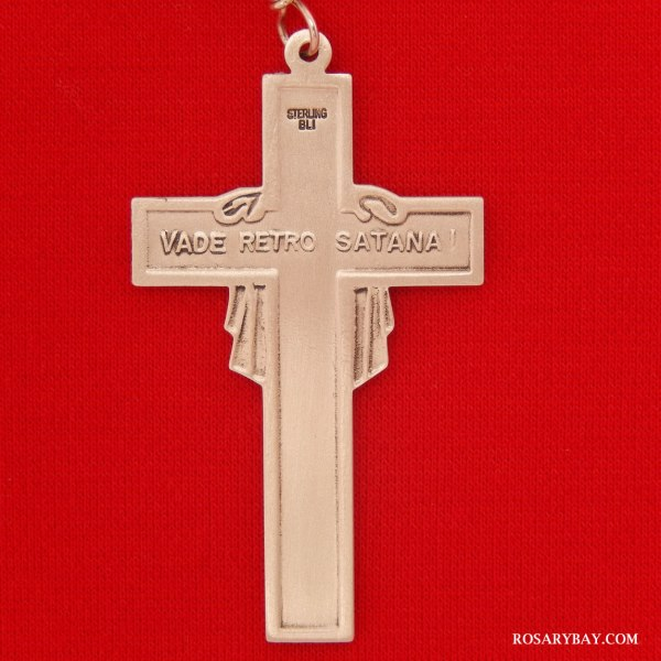 Veronica Veil Holy Face Cross Sterling Silver 14k Gold-filled Pendant
