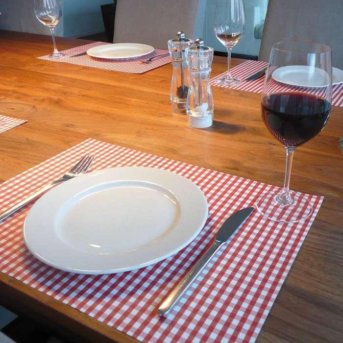 Set De Table En Papier Vichy Rouge Bistrot ROSE BUNKER