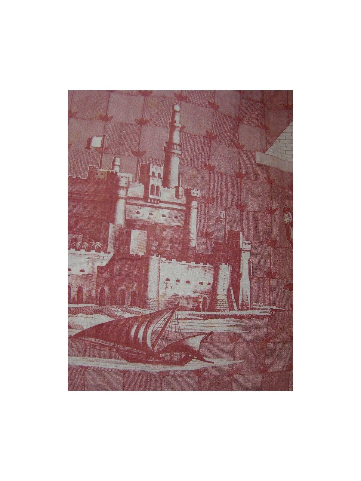 Paire De Tentures Toile De Jouy Xixeme Orientalisme Egypte