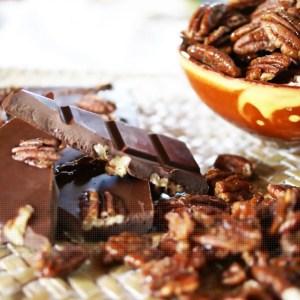 olé pécans, chocolat à faible index glycémique