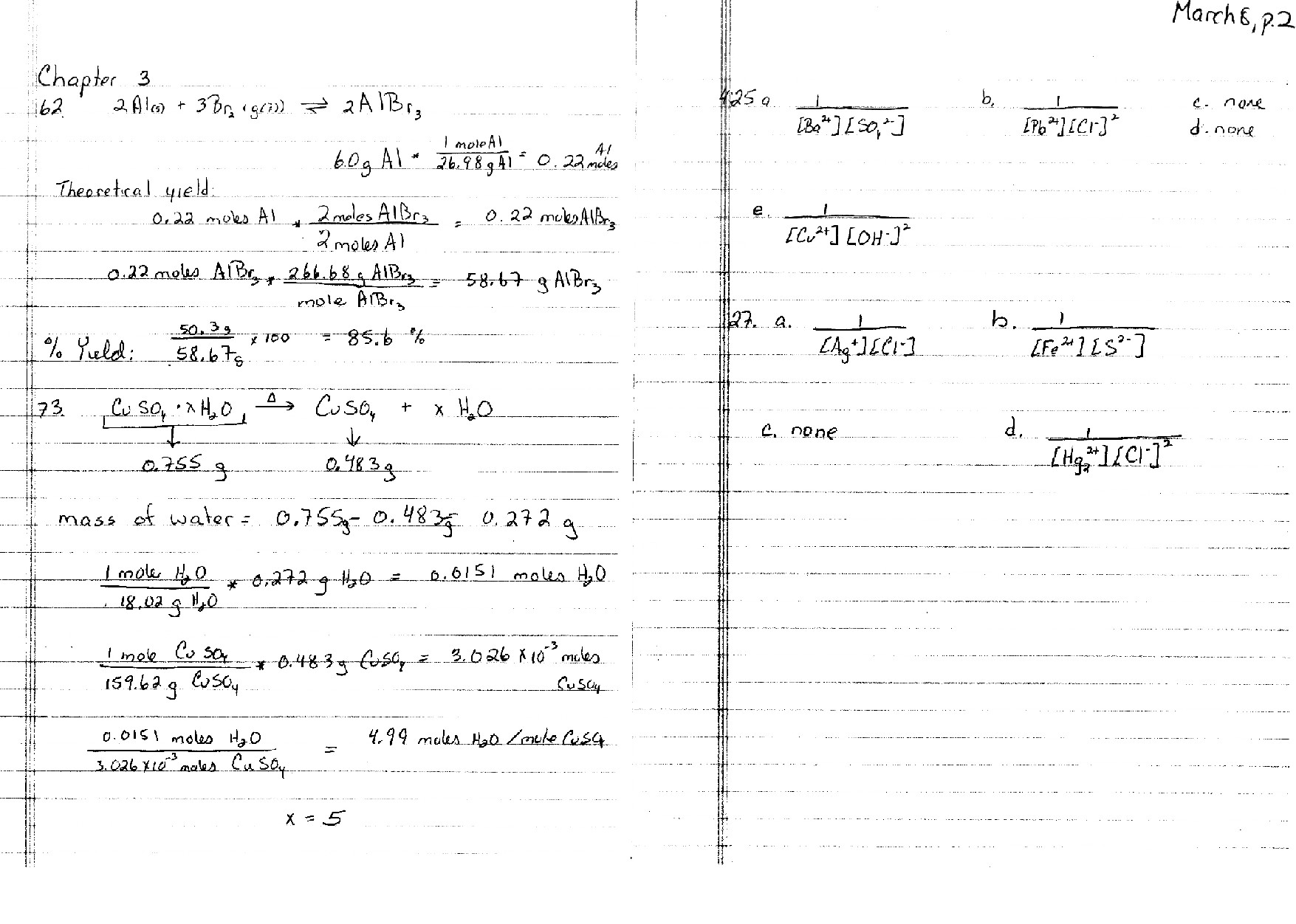 Engineering Chemistry Ii Schedule