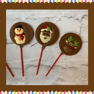christmas chocolate lollies