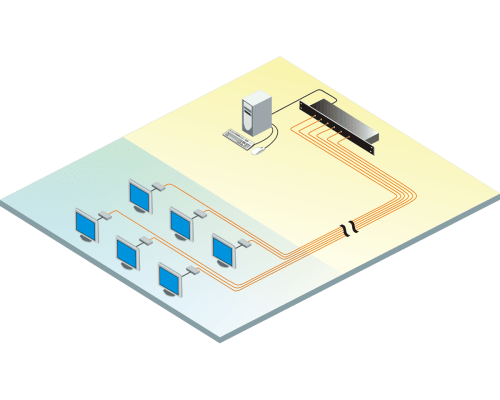 small resolution of diagram splits amplifies and extends video from a single source to 6 or 12 monitors simultaneously over cat5 cable