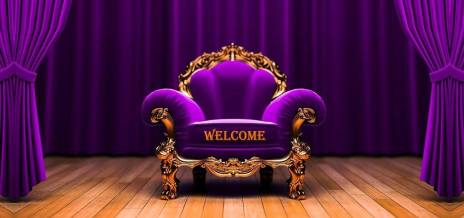WELCOME TO ROSY PURPLE ARMCHAIR