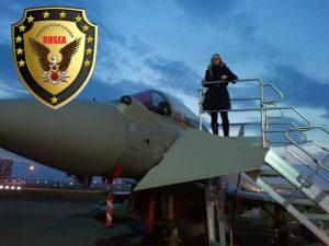 Rosalba Flugzeug Logo rosea