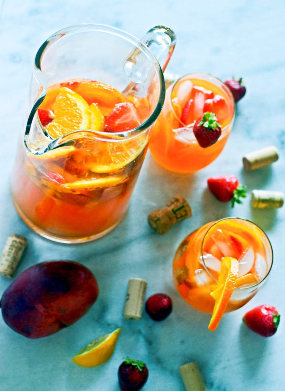 Summer in a Glass: Strawberry Mango Rosé Sangria