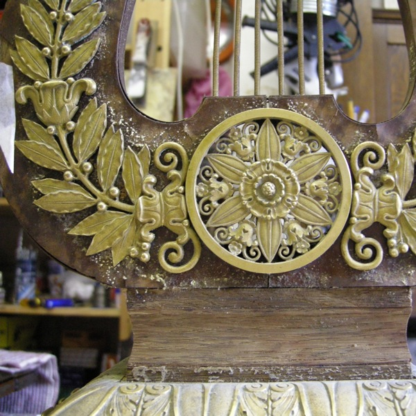 The lower clock before restoration