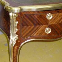 Detail of the regilded ormolou.