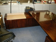 The refinished desk.