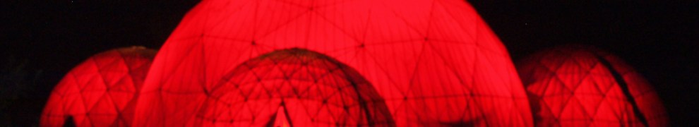 Thermodome lit by red light