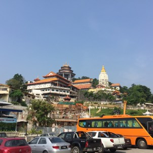 Kek Lok Si from the street level.