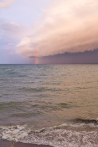 Rainbow Over Lake Michigan | http://www.roseclearfield.com