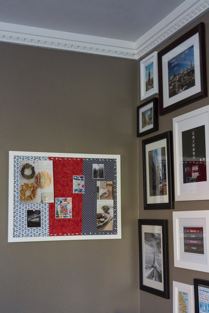 DIY Fabric Covered Inspiration Board...perfect for an office or studio! | http://www.roseclearfield.com