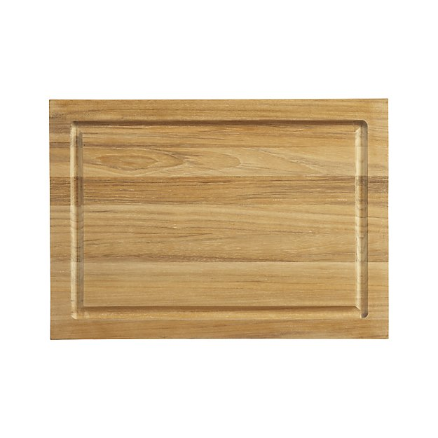 My 7 Favorite Staple Crate and Barrel Kitchen Items - Teak Cutting Board | http://www.roseclearfield.com