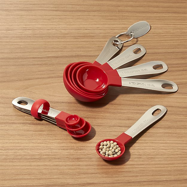 My 7 Favorite Staple Crate and Barrel Kitchen Items - Stainless Steel and Nylon Measuring Spoons | http://www.roseclearfield.com