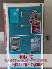 How to Paint and Makeover a Metal File Cabinet  Rose ...