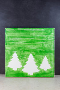 DIY Pine Tree Holiday Decor Canvas Wall Art   https://www.roseclearfield.com