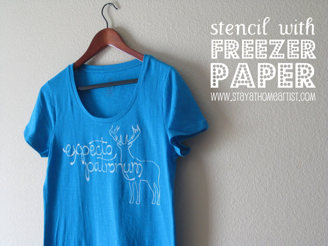 Last-Minute Homemade Christmas Gift Ideas - Stencil with freezer paper t-shirt.   https://www.roseclearfield.com