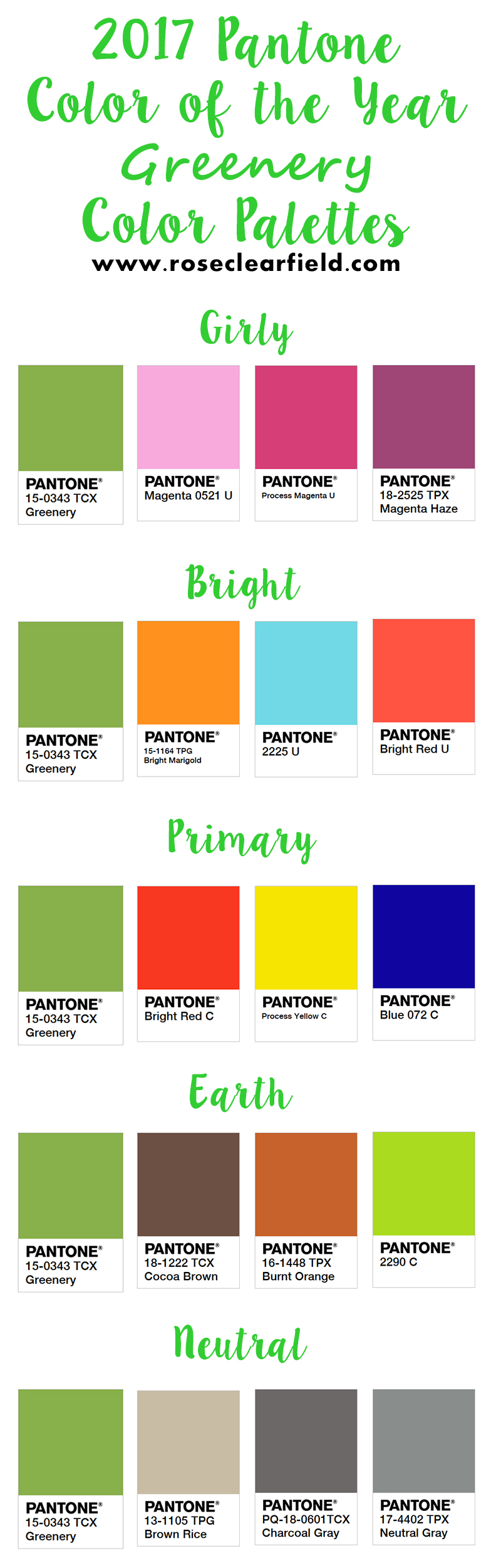 2017 Pantone Color Of The Year  Color Palettes -