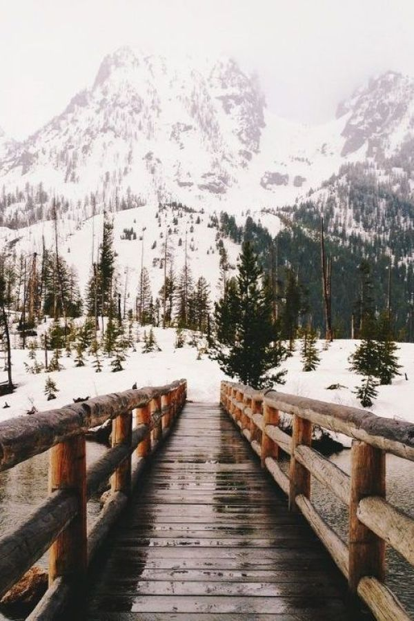 Winter Photography Inspiration - Bridge in the Mountains | https://www.roseclearfield.com